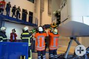 Rettung aus dem Dome bei abgesenkter Zugangsplattform