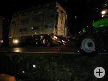 Sicherung mit Traktor als Erstmaßnahme