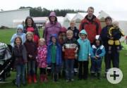 Die Teilnehmer(innen) an der Zeltlagererkundung in Sachsenhagen
