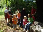 Fahrradtour 01.09.2012 - Pause im Wald