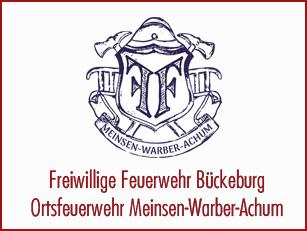 Schriftzug der Ortsfeuerwehr Meinsen-Warber-Achum